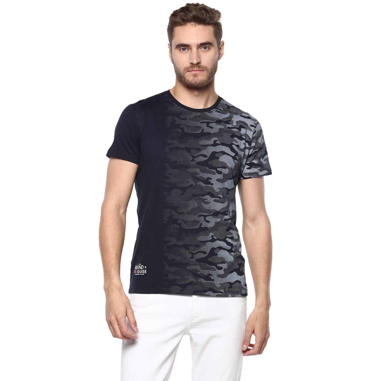 Navy Military Ombre Tee