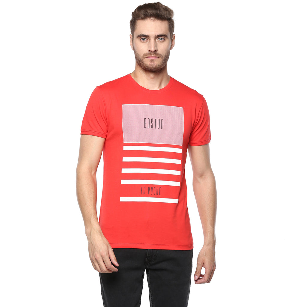 Miami Red Boston Graphic Tee