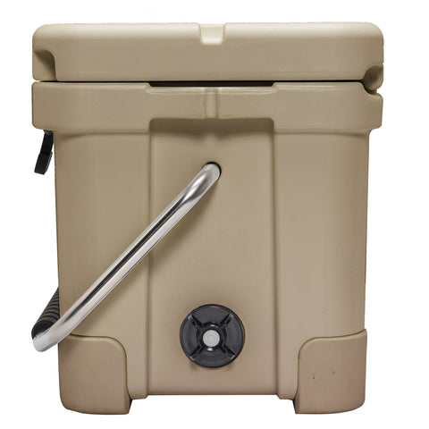 Renegade 20 Liter / 21 Quart Cooler with drain plug light - Tan