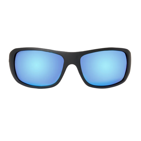 Leeward Discover Series - Matte Black/Blue Mirror
