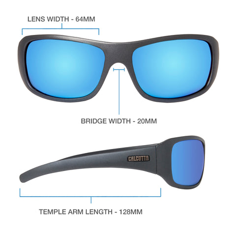 Leeward Discover Series - Matte Gray/Blue Mirror