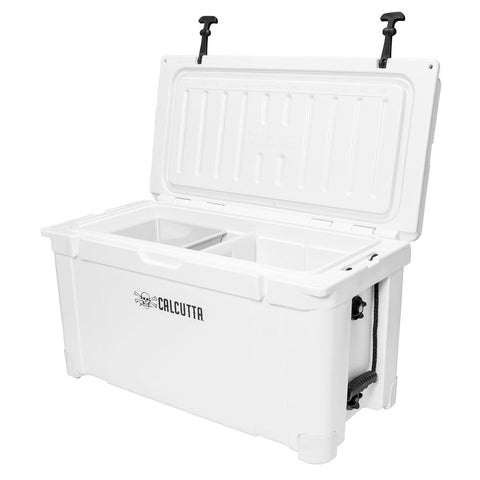 Renegade 75 Liter / 79 Quart Cooler with drain plug light - White