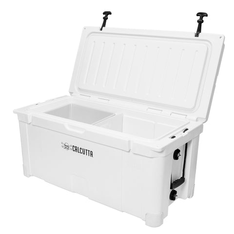 Renegade 100 Liter / 105 Quart Cooler with drain plug light - White