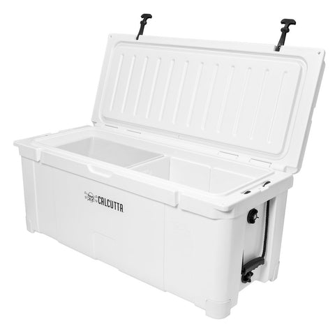 Renegade 125 Liter / 132 Quart Cooler with drain plug light - White