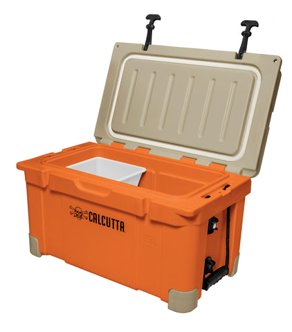 Limited Edition Renegade 35 Liter / 37 Quart Cooler with drain plug light - Orange/Tan