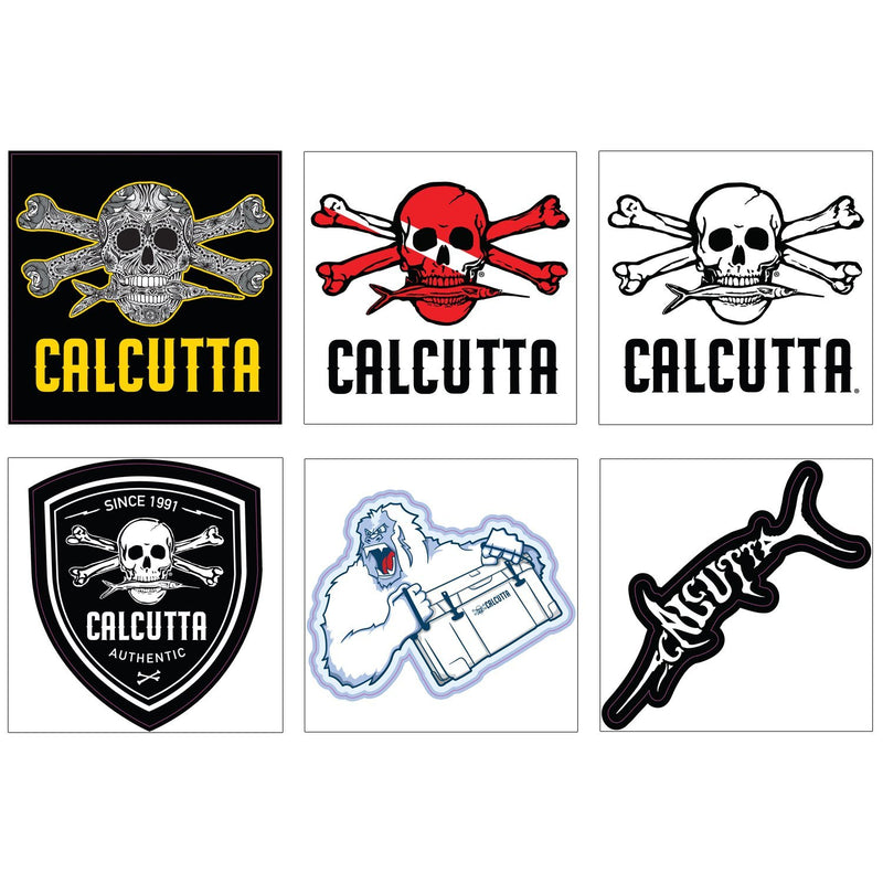 Calcutta Sticker / Decal 6 pack - 2 Assortments