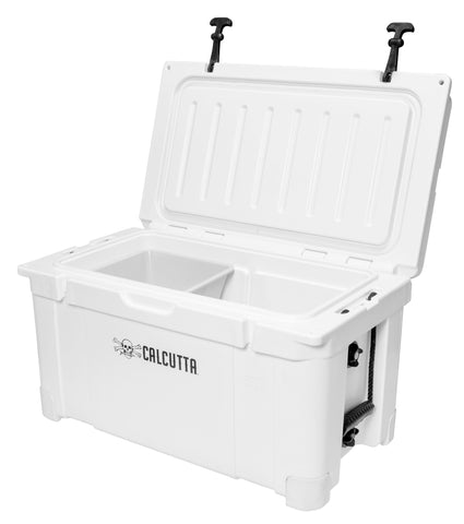 Renegade 55 Liter / 58 Quart Cooler with drain plug light - White