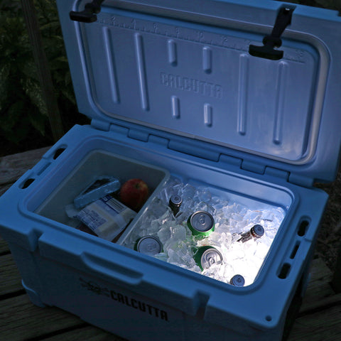 Limited Edition Renegade 35 Liter / 37 Quart Cooler with drain plug light - Blue