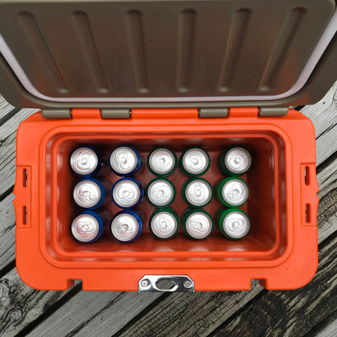 Limited Edition Renegade 20 Liter / 21 Quart Cooler with drain plug light - Orange/Tan