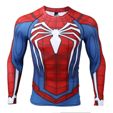 Spiderman OG BJJ Rashguard Tops Red/Blue / M