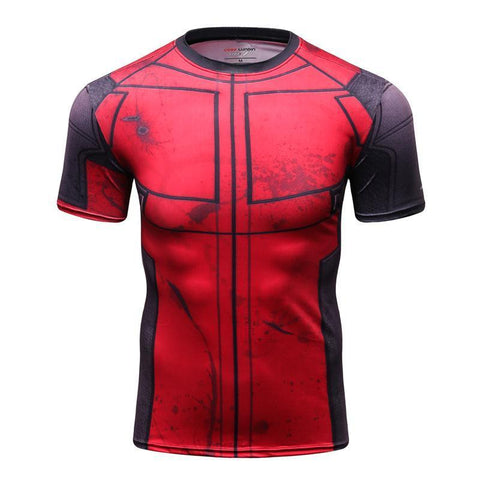 Deadpool BJJ Rashguard (SS) Tops Red/Black / S