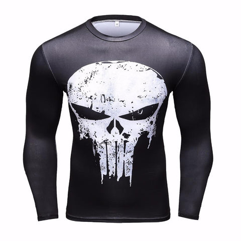 Punisher BJJ Rashguard Rashguards Black / L