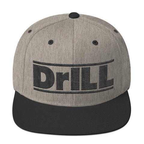No Gi Shop DrILL Snapback Hat Heather/Black
