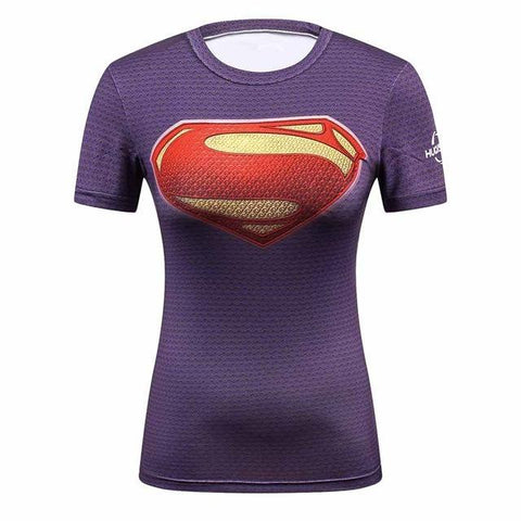 Women's OG Superman Bjj Rashguard (SS) Tops Dark Blue / M