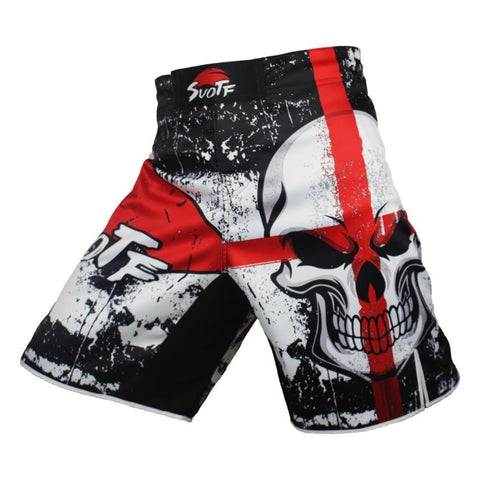 Cross Face Skull Fight Shorts Shorts black / L