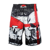 Cross Face Skull Fight Shorts Shorts