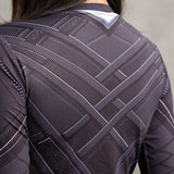 Women's Black Panther BJJ Rashguard (SS) Rashguards Grey / XS