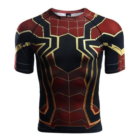 Spiderman Infinity War Rashguard (SS) Rashguards Spiderman IW / S