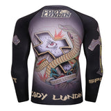 Cross Eye Grapple Gurad Rashguards
