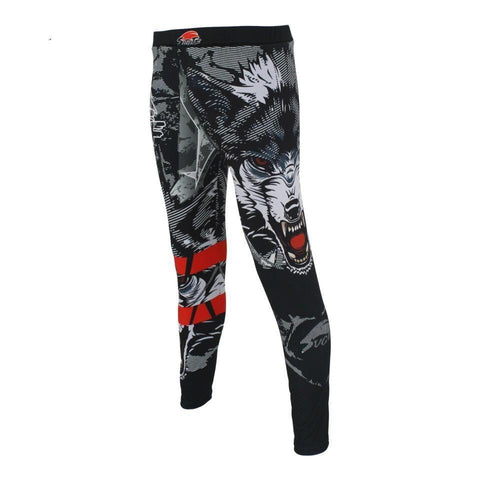 Growling Wolf Spats Spats Black / Grey / L