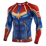 Captain Marvel No Gi BJJ Rashguard