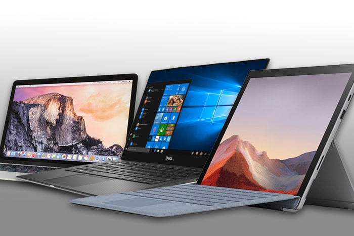 MacBook Pro vs. Surface Pro 7 vs. Dell XPS 13