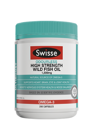 Odourless High Strength Wild Fish Oil 1500mg