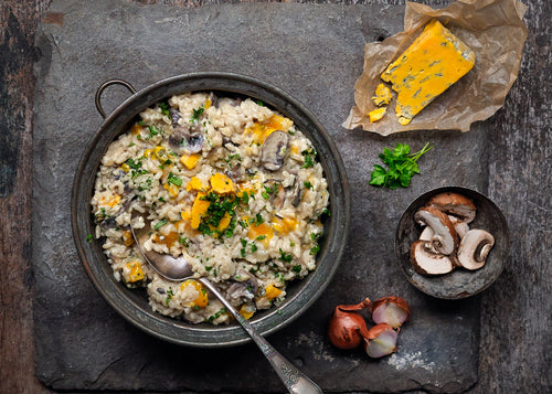 Mushroom and Harrogate Blue Cheese Risotto