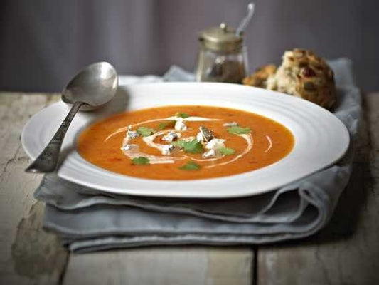 Mrs Bells Blue & Sweet Potato Soup