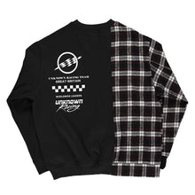 Black Patchwork Crewneck