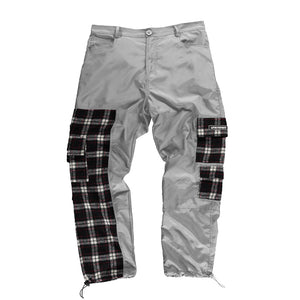 Grey Patchwork Cargos