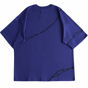 Purple Barbed Wire Tee
