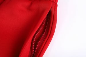 Red Neoprene Cargos