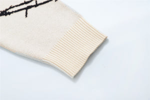 Ivory Barbed Knit