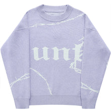 Purple Barbed Knit