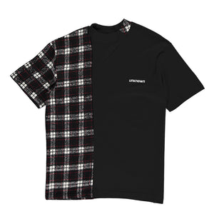 Black Patchwork Tee
