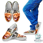 Amazing Nova Scotia Duck Tolling Retriever Print Slip Ons For Kids-Waggz Apparel