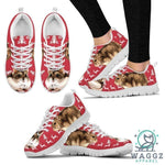 Campbell's Dwarf Hamster Print Christmas Running Shoes For Women-Waggz Apparel