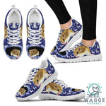 Chinese Hamster Print Christmas Running Shoes For Women-Waggz Apparel