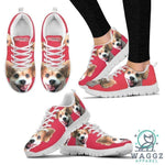 Customized Dog Running Shoes For Women Designed By Sandy Hunter-Waggz Apparel