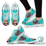 Djungarian Hamster Print Christmas Running Shoes For Women-Waggz Apparel