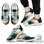 Dwarf Hamster Printed (White) Running Shoes For Men Limited Edition-Waggz Apparel