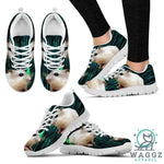 Dwarf Hamster Printed (White) Running Shoes For Women-Womens-US5 (EU35)-White-Waggz Apparel