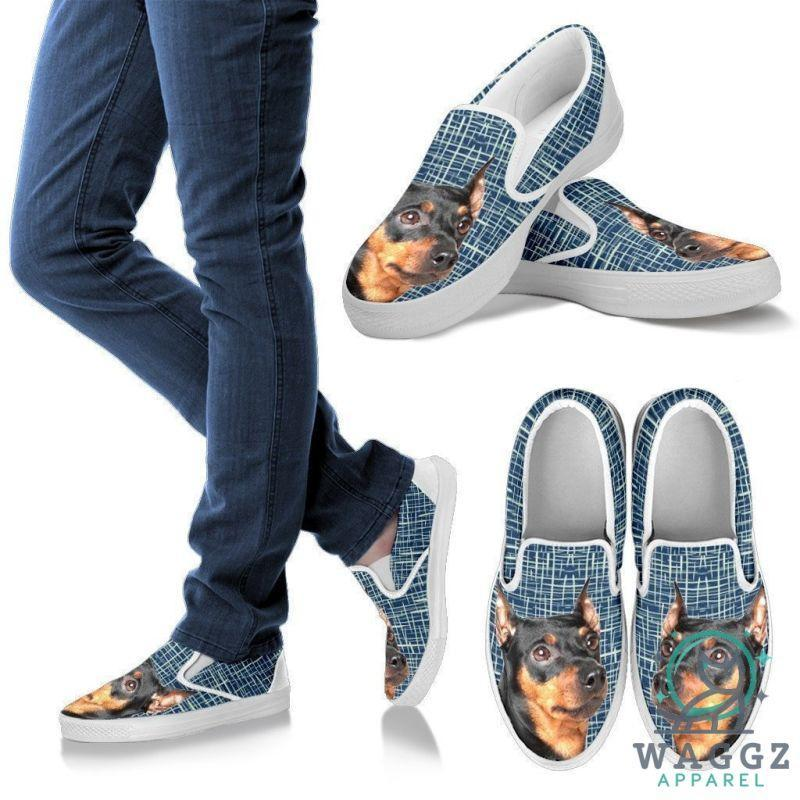 German Pinscher Dog Print Slip Ons For Women-Waggz Apparel