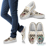 Glen of Imaal Terrier Print Slip Ons For Women-Waggz Apparel