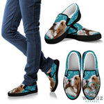 Lemon Basset Hound Dog Slip Ons Shoes For Women-Waggz Apparel