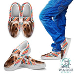 Silky Terrier Print Slip Ons For Kids-Waggz Apparel