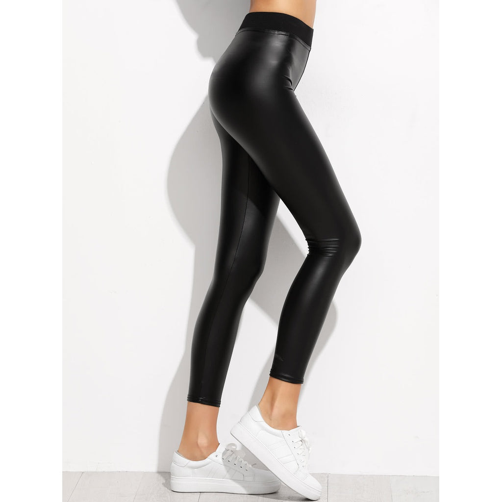 Faux Leather Ankle Leggings