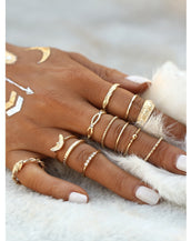 Gold Plated Embellished Ring Set