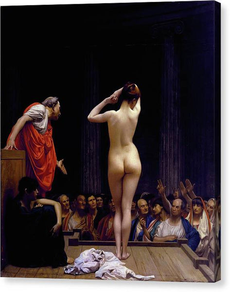 Jean Leon Gerome A Roman Slave Market 1884 - HQ Canvas Print ready to hang